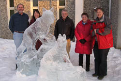 Alaska Unit Scientists (Margraf, Powell, Griffith) and Staff (Pearse, Enochs), winter 2010.