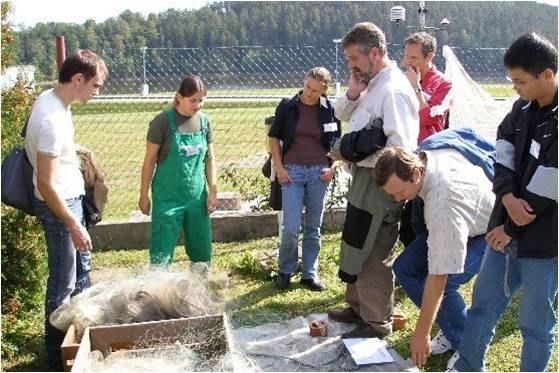 Dr. Scott Bonar meets with European scientists to discuss freshwater fish sampling methods.  Development of standardized sampling methods allows communication and data sharing across large regions