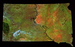 LandSat Image of South Dakota