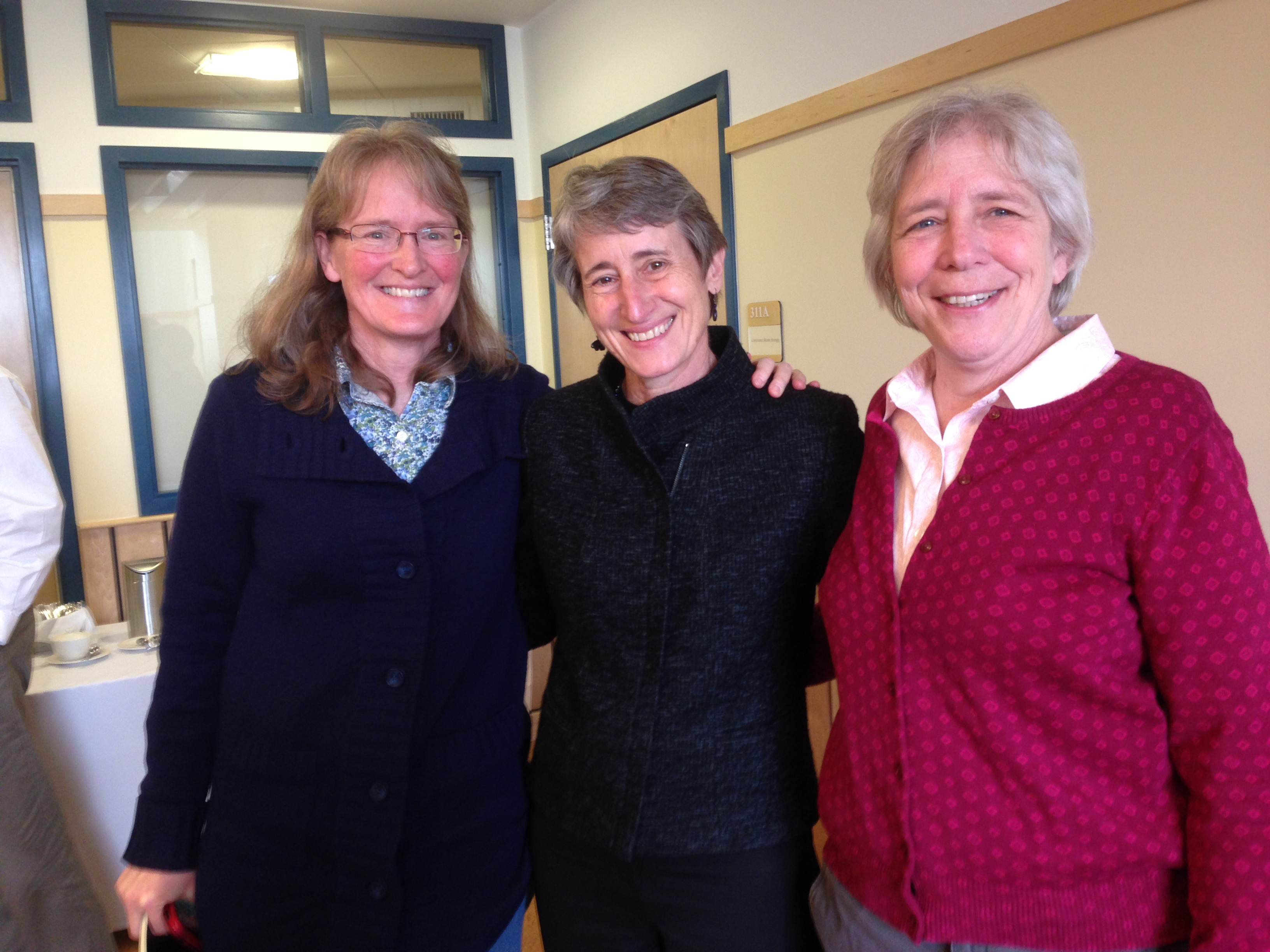 Vermont Unit Leader Donna Parrish (right) and Asst Unit Leader Terri Donovan (left) with Department of Interior Secretary Sally Jewell.