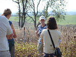 Unit graduate student, Megan Jones, explains small mammal ecology to UW-Madison students on a Grassland Ecology field trip.
